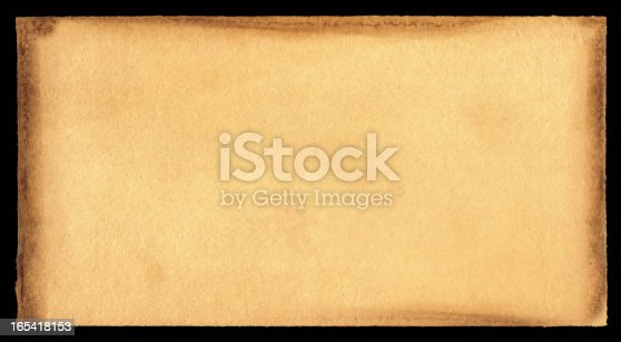 istock Grunge brown paper textured background 165418153