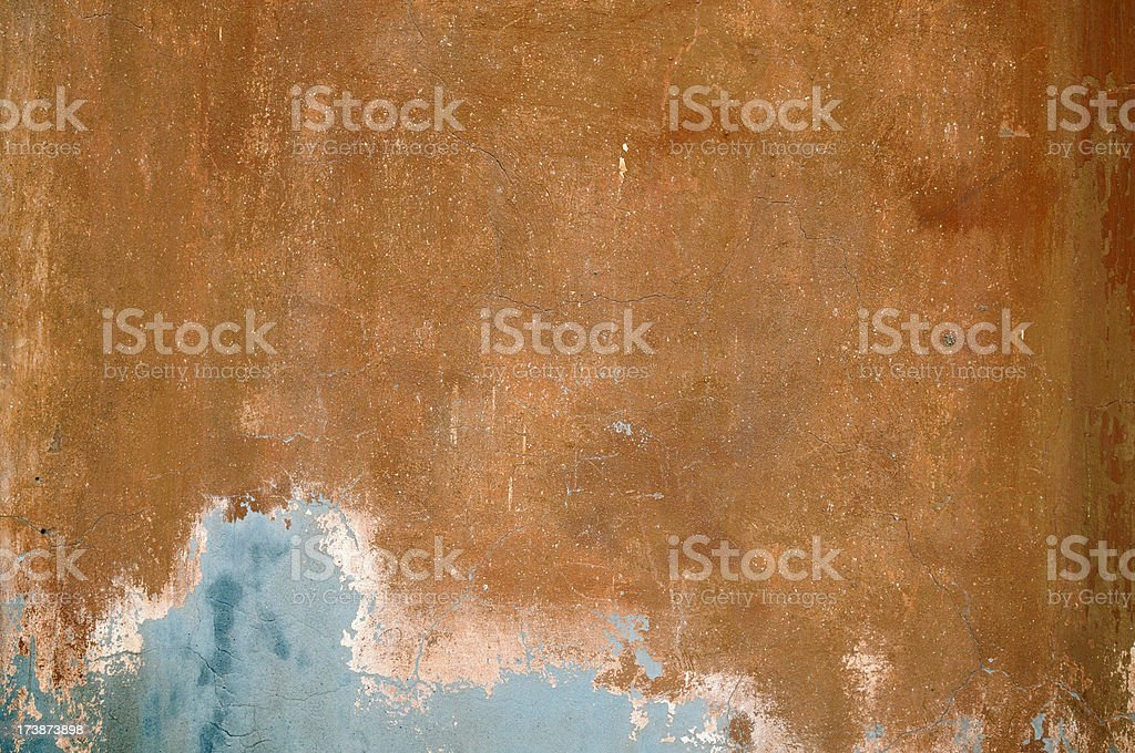 Grunge Brown Tuscan Wall Texture Background Pattern royalty-free stock photo