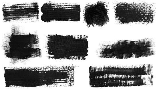 istock Grunge Brush Stroke Paint Boxes Backgrounds 1064656206