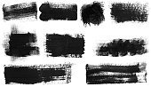istock Grunge Brush Stroke Paint Boxes Backgrounds 1064656206