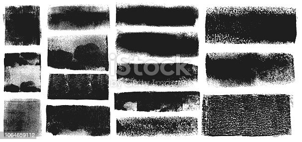 istock Grunge Brush Stroke Paint Boxes Backgrounds 1064659112