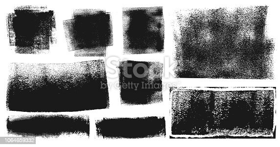 istock Grunge Brush Stroke Paint Boxes Backgrounds 1064659332