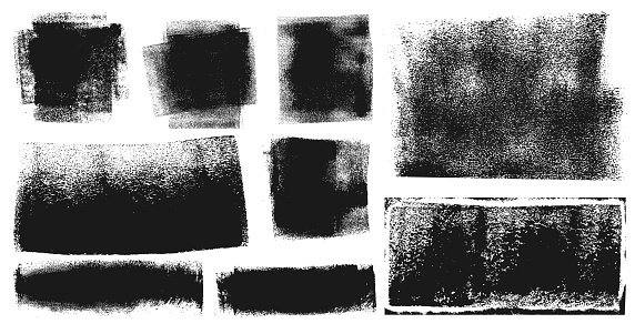 istock Grunge Brush Stroke Paint Boxes Backgrounds 1064659332