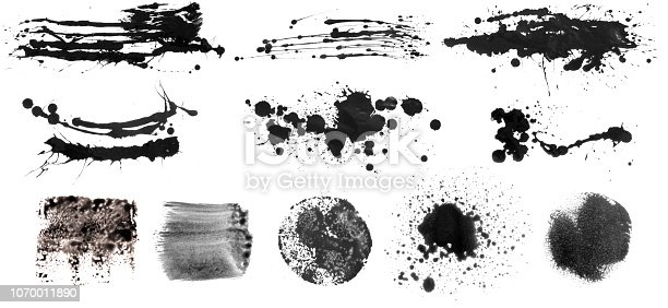 istock Grunge Brush Stroke Paint Boxes Backgrounds 1070011890