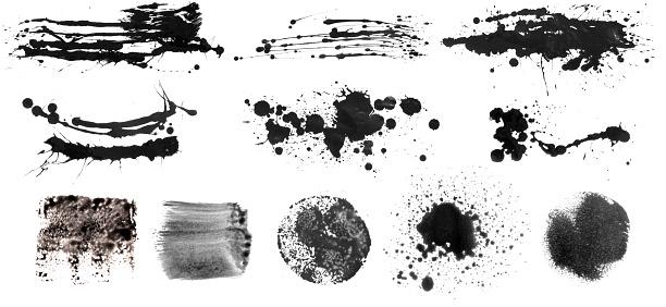istock Grunge Brush Stroke Paint Boxes Backgrounds 1070011890