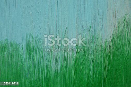 Grunge Brush Strokes of Blue and Green Paint