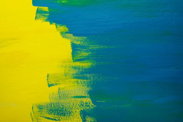 Grunge Brush Strokes of Blue Paint stock photo