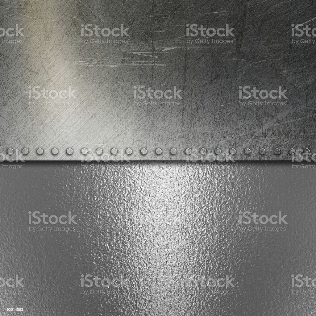 Grunge brushed metal and chrome background stock photo