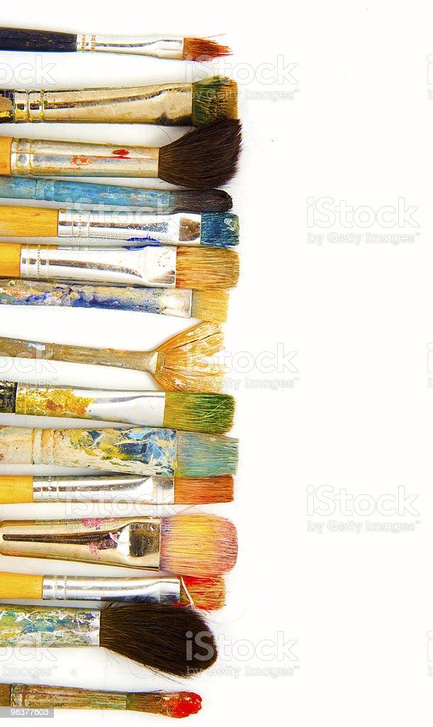 grunge brushes. isolated royalty-free stock photo