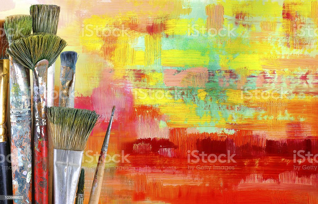grunge brushes stock photo