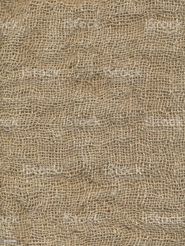 Grunge burlap sack royalty-free stock photo