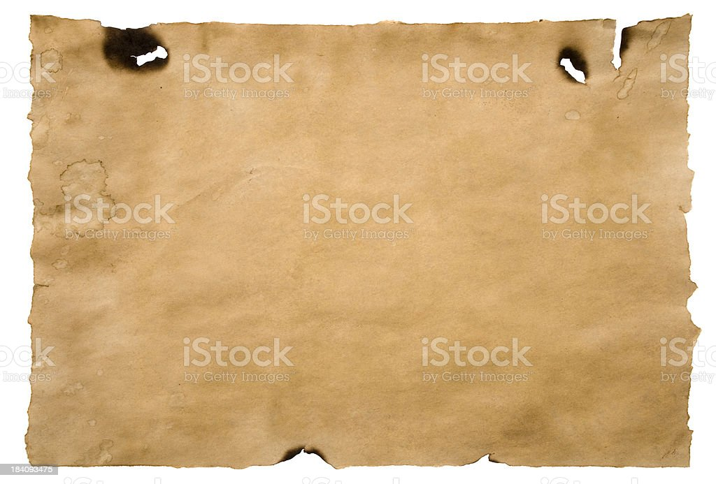 Grunge burnt paper stock photo