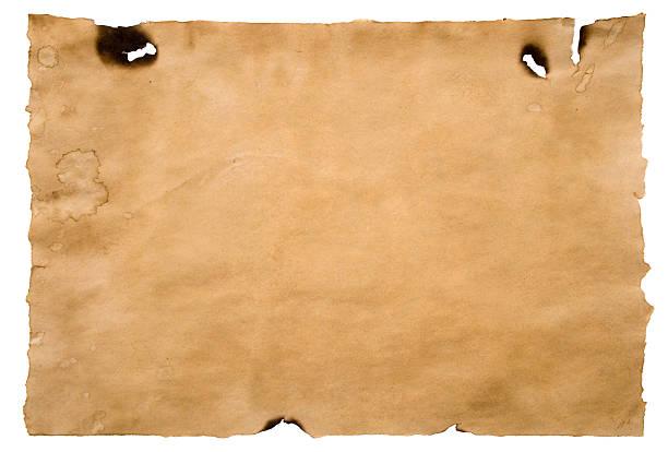 Grunge burnt paper stock photo