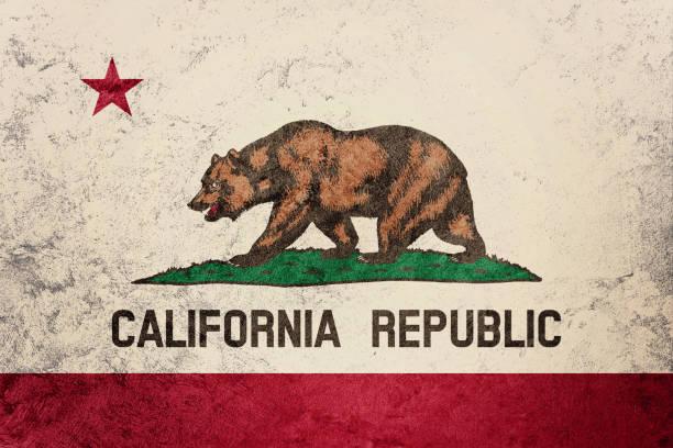 Bandera de estado de California de Grunge. Bandera de California fondo textura grunge. - foto de stock