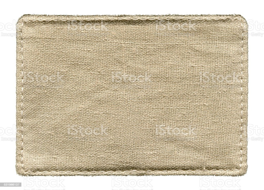 Grunge Canvas textured background isolated stock photo