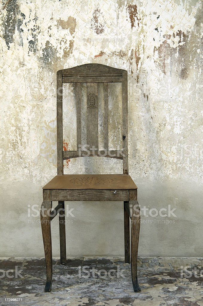 grunge chair royalty-free stock photo