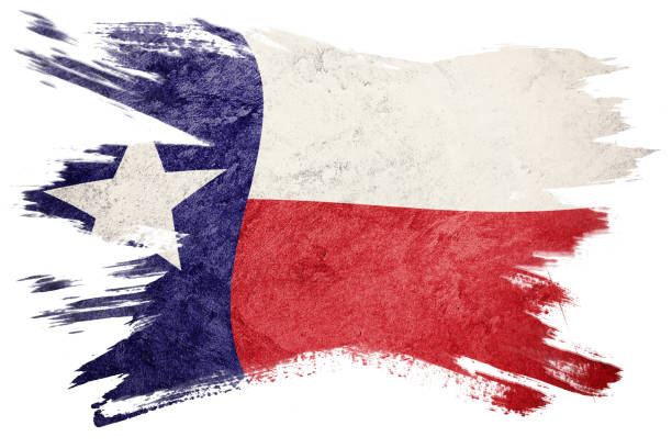 Grunge Chile flag. Chilean flag with grunge texture. Brush stroke. stock photo
