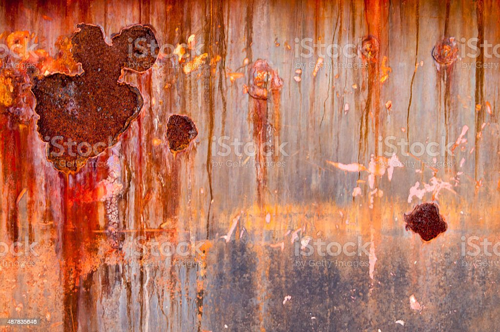 grunge chipped paint rusty textured metal background stock photo