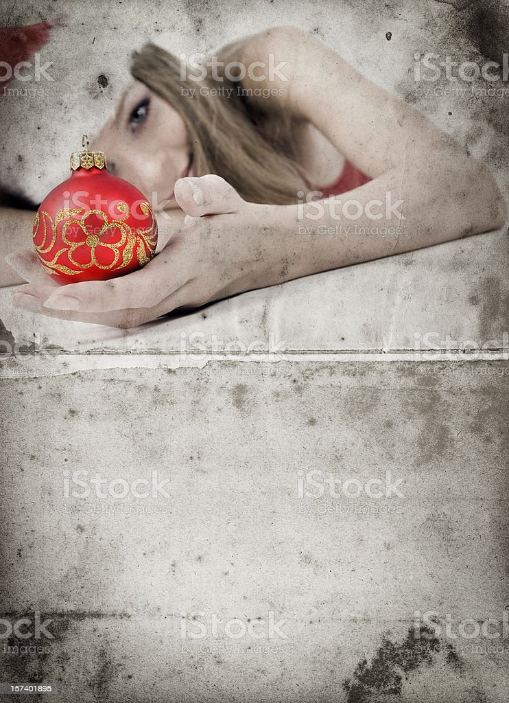 Grunge Christmas Card royalty-free stock photo