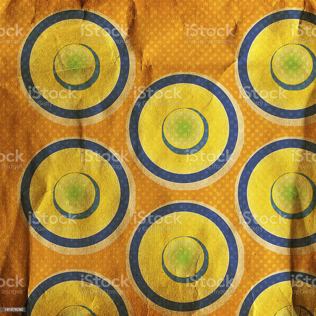 grunge circles on the abstract background royalty-free stock photo
