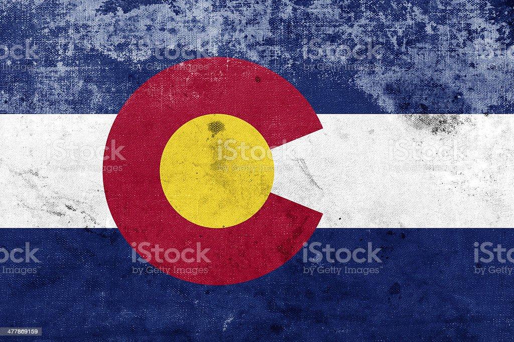 Grunge Colorado State Flag stock photo