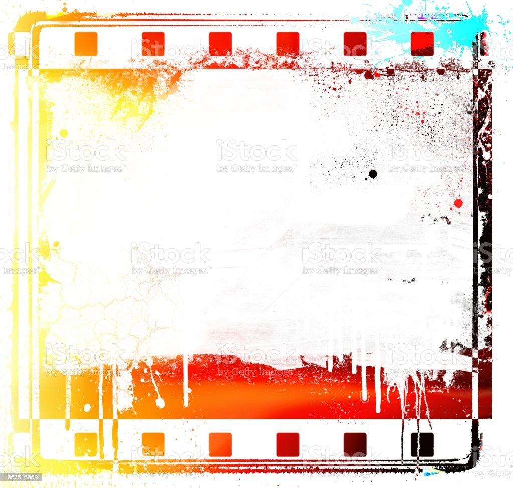 Fotografía de Marco De Tira De Película Colorida De Grunge Y ...