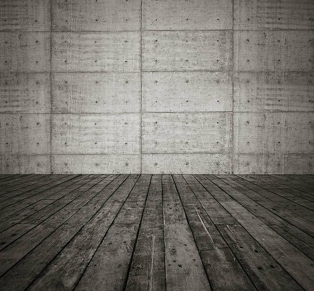 grunge concrete wall and floor background textured - betonplatten stock-fotos und bilder