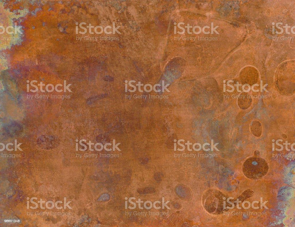 Grunge copper sheet royalty-free stock photo