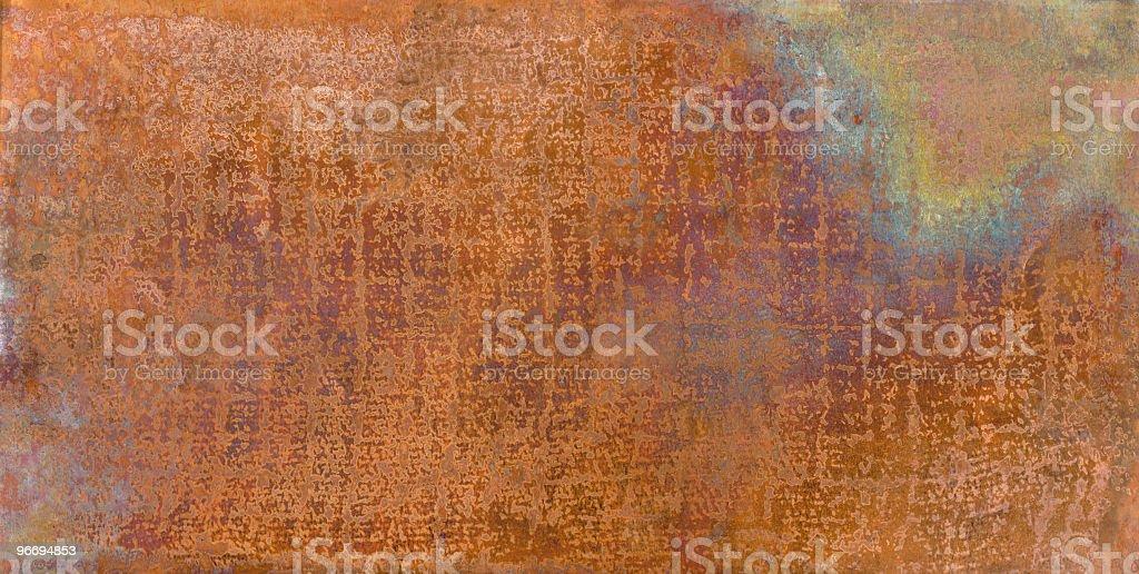 Grunge copper sheet stock photo