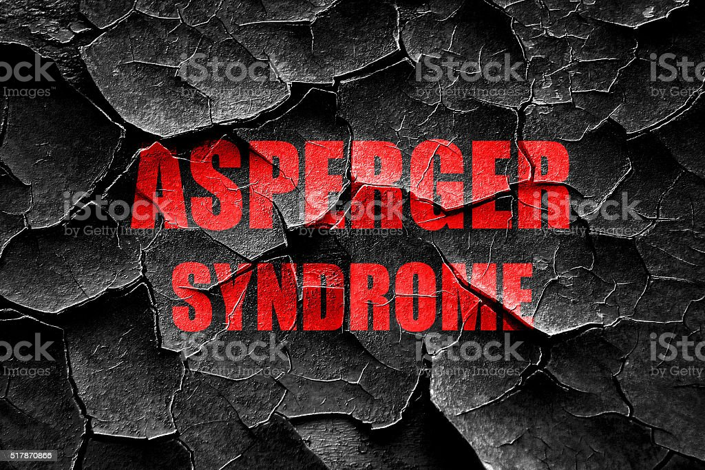 Grunge cracked Asperger syndrome background stock photo
