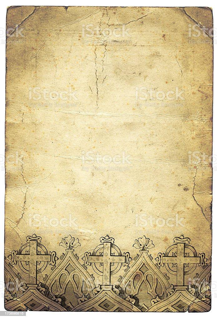 Grunge cross paper stock photo