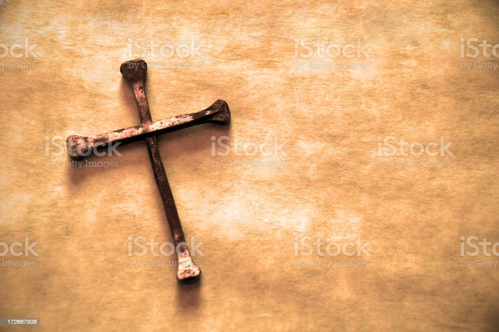 Grunge Cross royalty-free stock photo