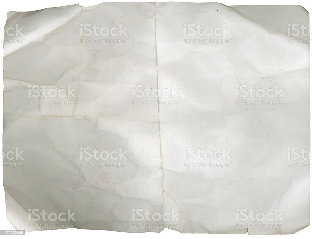 Grunge: Crumpled Paper royalty-free stock photo