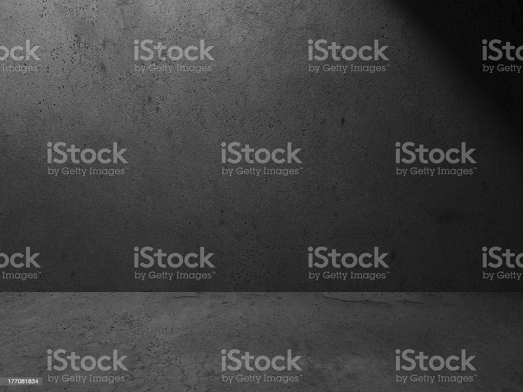 Grunge dark room royalty-free stock photo