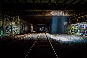 Grunge Dark Train Tunnel