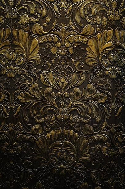 grunge dark wall ornament texture stock photo