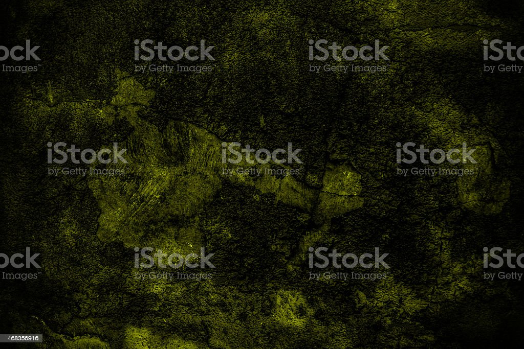 Grunge dark yellow wall background or texture royalty-free stock photo