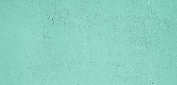 grunge decorative light green plaster wall texture. - wall foto e immagini stock