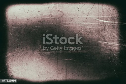 istock Grunge Dirty Surface of the Old Film 877329966