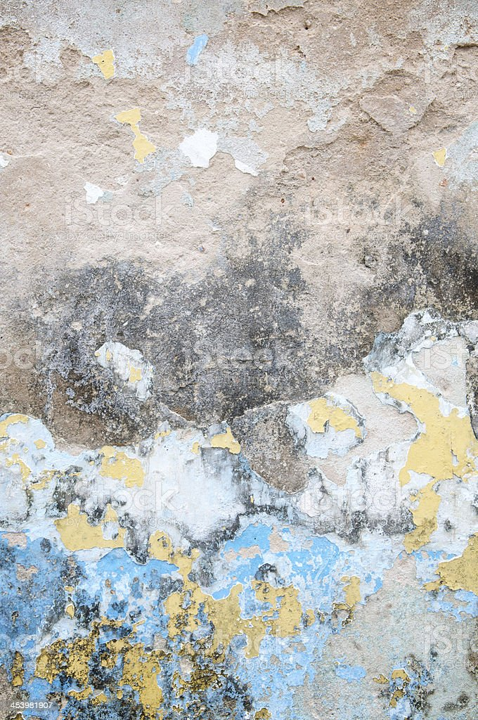 Grunge Distressed Peeling Paint Wall Background Vertical royalty-free stock photo
