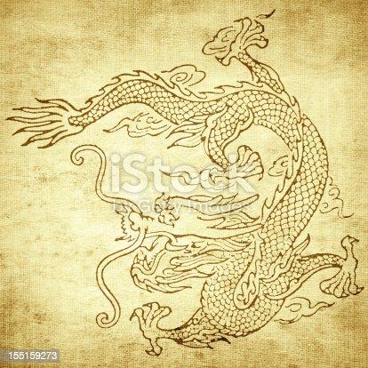 istock Grunge Dragon background 155159273