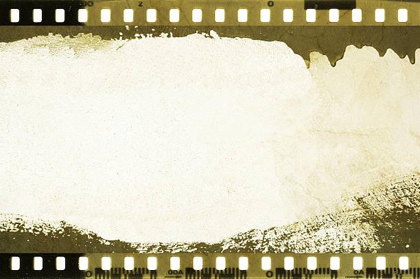 grunge-film-streifen rahmen tropfen. - filmplakate stock-fotos und bilder