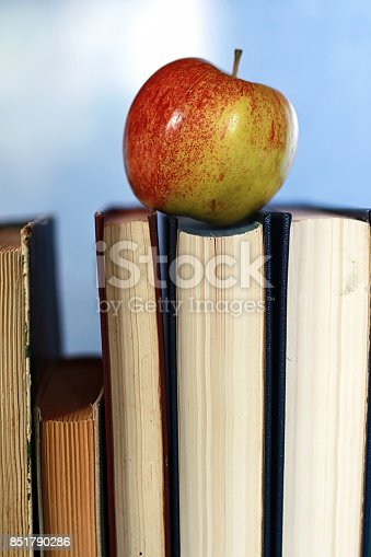 istock grunge effect photo education book stack apple pen 851790286