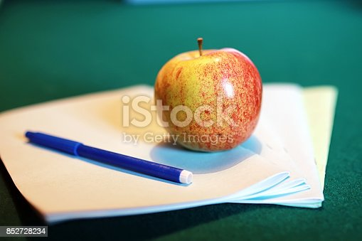 istock grunge effect photo education book stack apple pen 852728234
