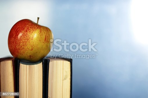 istock grunge effect photo education book stack apple pen 852728580