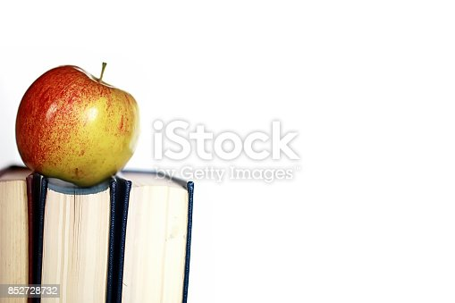 istock grunge effect photo education book stack apple pen 852728732