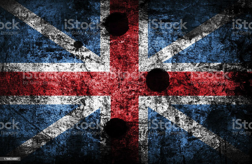 Grunge england flag royalty-free stock photo