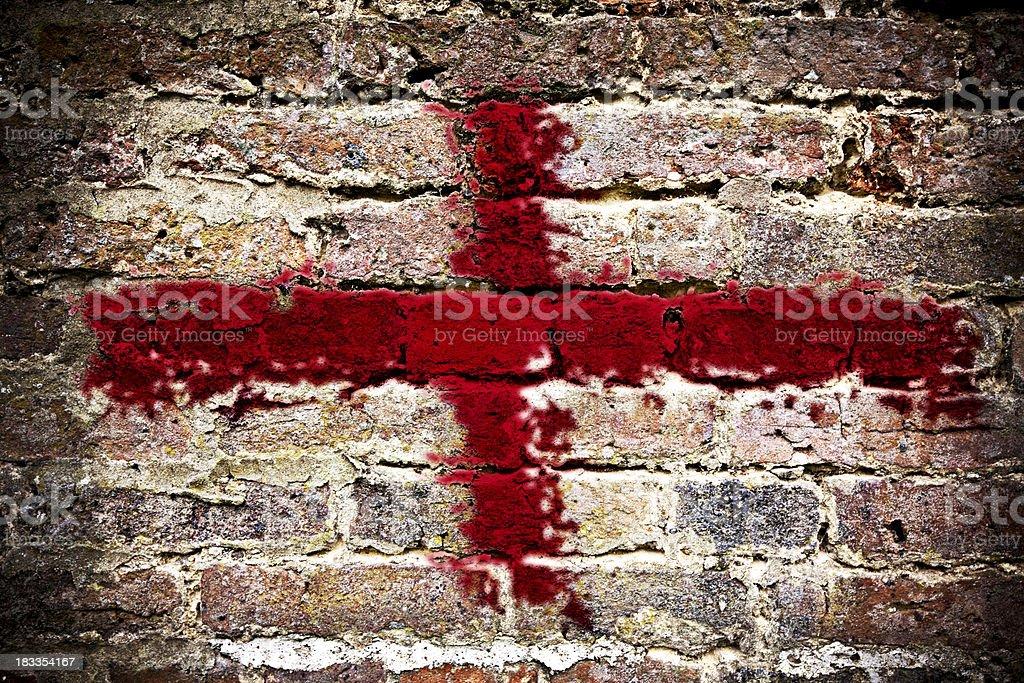 Grunge English Flag royalty-free stock photo