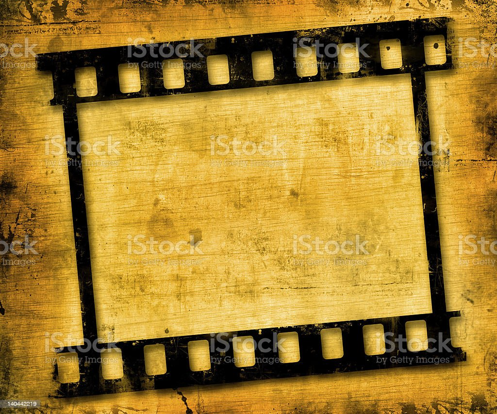 grunge film frame royalty-free stock photo