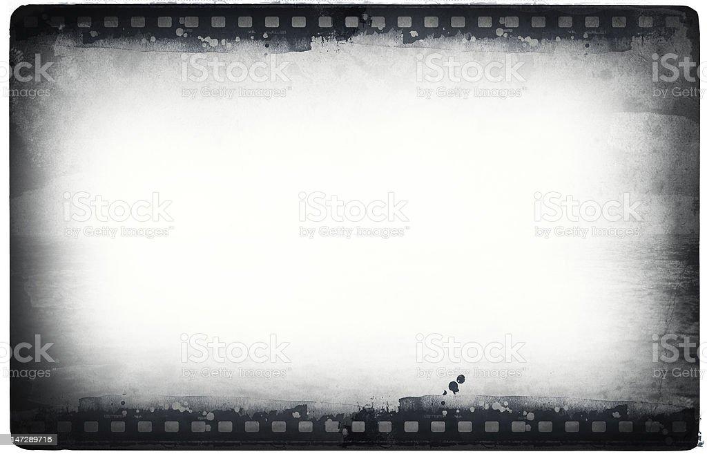 Grunge film frame stock photo
